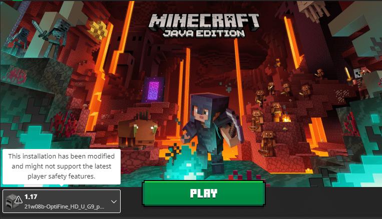 minecraft optifine 1.17